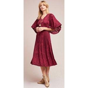 Akemi + Kin Isolde Bell-Sleeve Dress NWOT